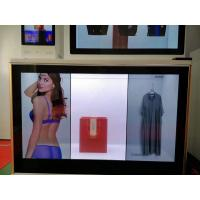 China BARCOLED Transparent Lcd Wall Display Screen 6 Point Infrared Touch Panel With Scrolling Marquee on sale