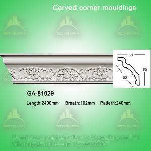 Quality Fashion carved pu crown moldings cornice molding wholesale