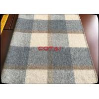 Quality Wholesale 60 Wool 900G/M Double Sided 8CM Tartan / Plaid Fabric With Gray Twill Inside Coating Wool Fabric wholesale