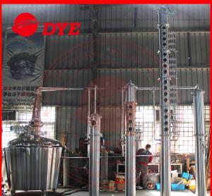 Quality Vodka Copper Relux Column , Craft Distillery Equipment Distillery wholesale
