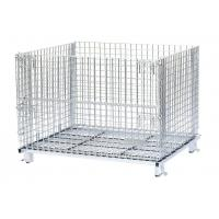 China Supermarket Griding  Wire Mesh Container Customized Color And Sizes on sale