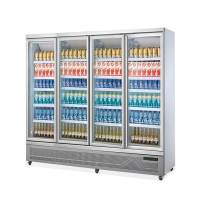 China Large Capacity Beverage Coolers Glass Door Commercial Refrigerator on sale
