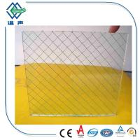 Quality Safety translucent laminated glass , 12mm 6mm Wired patterned glass for partition wholesale