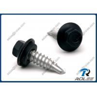 410 Stainless Painted Hex Flange Head Self Drilling Screw with Neoprene Washer