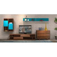 Quality 2017 New Living room Furniture TV Wall Unit Floor stand Hang cabinet in MDF melamine with High glossy panel wholesale