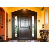 China Magahongany Front Main Solid Wood Replacement Doors Finished Surface Treatment on sale