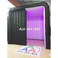 Quality rental black cabin tent inflatable photo booth with led light for advertising wholesale