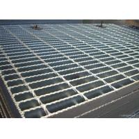 Quality ISO9001 Serrated Steel Grating For Flooring Customized Cross Bar Spacing wholesale