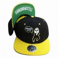 Quality New Hip-hop Snapback Cap, Made of Wool and Acrylic wholesale