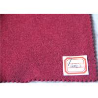 Quality Dark Red Wool Fabric In Stock 5 Cashmere , 60% Wool Suiting Fabric For Women Winter Skirts wholesale