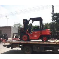 China Durable 3 Ton Forklift , 3 Stage Fork Lift Trucks Stainless Steel Boarding Platform on sale