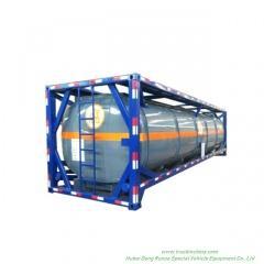 40FT Customizing Acid Tank ISO Hydrochloric Acid Solution 28, 000liers -40, 000liers HCL(max 35%), NaOH (max 50%), NaCLO (max 10%), PAC (max 17%),H2SO4(60%,98%) ,HF ( 48%),H3PO4 (10%-85%),NH3. H2O,H