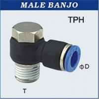 China Air, Water 12mm Male Banjo One Touch Fittings / Pneumatic Fittings And Tubing With Gasket Seal on sale