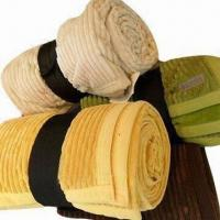 Quality Wide Wale Cord Blankets with Microfiber Back wholesale
