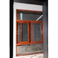 Quality Red Brown Floor Large Glass Window With Aluminium Frame Horizontal Open wholesale