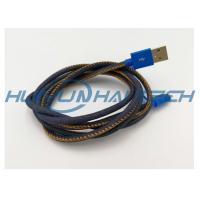 Cheap High End Mfi Jean Cloth Heat Resistant Wire Sleeve For Denim Usb Cable Harness for sale