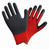 Quality Latex Palm-coaed Safety Gloves with Crinkle Finish wholesale