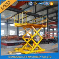 Quality 600KGS 2M Warehouse Hydraulic Cargo Scissor Lift with Movable Wheels wholesale