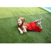 Quality Kids Playground Artificial Grass For Landscaping , Green Fake Grass Carpet wholesale