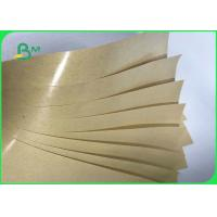 China 40gsm 60gsm 80gsm Single Side PE Coated Kraft Paper For Food Packages Bags on sale