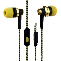 China Universal 3.5mm Music Sport Gaming In Ear Corded Earbuds Earphones With Mic on sale
