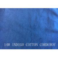 Quality 14W INDIGO COTTON CORDUROY FOR PANTS LIKE DEMIN FABRIC wholesale