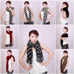 China Mink Fur Scarves Mink Fur Scarf Mink Fur Wraps Mink Fur Shawl Mink Knitted Scarf 6 Colors on sale