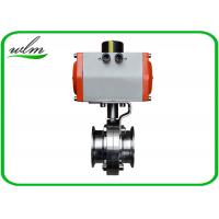 "Quality Hygienic Grade Sanitary Tri Clamp Butterfly Valve Compact Configuration , Large Size 1"" - 8"" wholesale"
