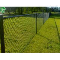China 8ft green vinyl coated wire mesh fencing sport chain wire fence on sale