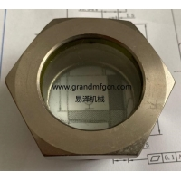 China M33x1.5 M36x1.5 refrigeration equipment fused steel sight glass fused sight window oil sight glass manufacturer China on sale