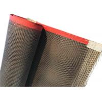 China 4*4 mm Teflon Coated Fiberglass Mesh Conveyor Belt For Cardboard Division For Drying on sale