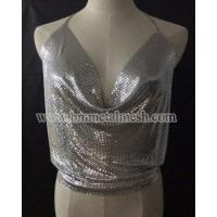 China Sequin Fabric,Silver Metal Mesh For Dress on sale