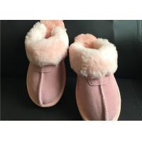 Quality AUSTRALIA kids Sheepskin Slippers Chestnut Winter Warm Indoor Shoes wholesale