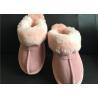 Buy cheap AUSTRALIA kids Sheepskin Slippers Chestnut Winter Warm Indoor Shoes from wholesalers
