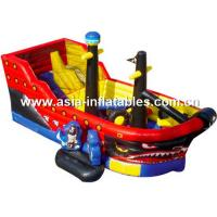 China Creative Inflatable Pirate Ship Funland, Inflatable Funcity For Children Games on sale