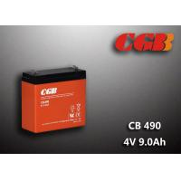 Quality 1.12KG Sealed Lead Acid Battery 4V 9Ah CB490 Series ABS Plastic V0 Battery wholesale