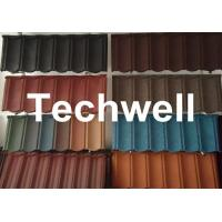 Quality Colorful Sand Coated Iron Roof Tile Forming Machine wholesale
