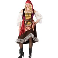 Quality Sexy Costumes Wholesale Velvet Brown Deckhand Darlin Costume with Size S to XXL Available wholesale