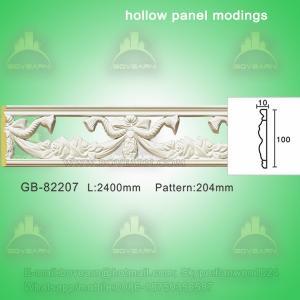 Quality Polyurethane Decorative center hollow mouldings for light decoration wholesale