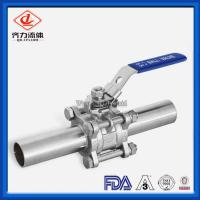 China 3PC  Long Butt Weld Ball Valve 1/2''-12'' Port  Food Process Industry Use on sale