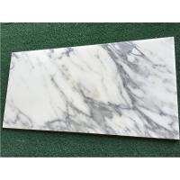 Quality White Calacatta Marble Natural Stone Tile For Bathroom 10mm Thickness wholesale