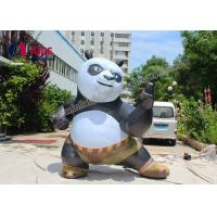 Cheap Customized Inflatable Cartoon Characters Big Inflating Kung Fu Panda Model for sale