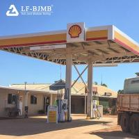 Cheap Prefab Galvanized Space Frame Steel Structure Gas Petrol Filling Station Canopy Roofing Cover for sale