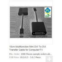 Quality 10cm Multifunction Mini DVI To DVI Transfer Cable for Computer/TV wholesale