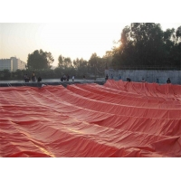 Buy cheap 1.0mm PVC coated Tarpaulin 500 tons Slurry Storage Red or Army Green Methane from wholesalers