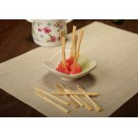 Quality Hand Made Decorative Bamboo Skewers For Cocktail / Fruit Kabobs / Grilling wholesale