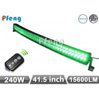 Quality 41.5 Inch 240W Green White Curved Led Light Bar With Wireless Remote Control wholesale
