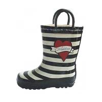 Quality Fashion Kids Rubber Boot,Rubber Rain Boot with Heart Prints,Children's Wellington wholesale