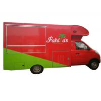 Quality Awesome Petrol Mobile Kitchen Truck , Mobile Fast Food Van Gasoline Fuel Type wholesale