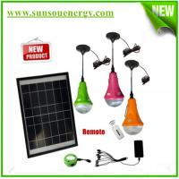 China Portable solar lighting kits for camping, solar home lighting kits with remote controller, bulb lights for hot sale on sale